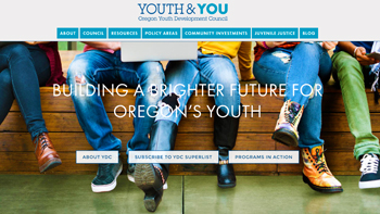 Oregon Youth Development Council Website